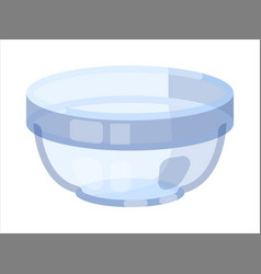 Transparent glass bowl with lid on white vector