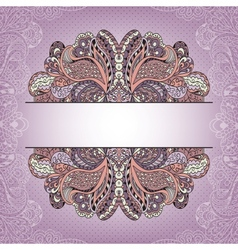 Vintage greeting card template with decorative vector image