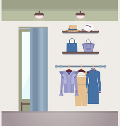 Vogue clothes shope color vector