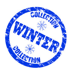 winter collection stamp for retail store isolated vector image