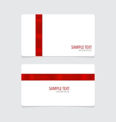 Cards with red ribbon vector image
