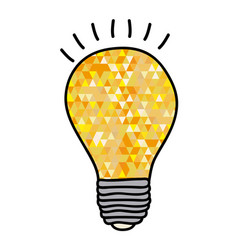 hand drawn background with yellow light bulb and vector image vector image