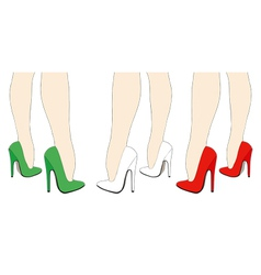 Italian shoes vector