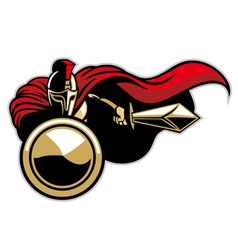 spartan army mascot vector image vector image