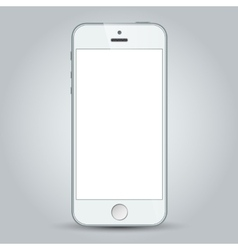 White mobile apple iphone 5s and iphone 6 plus vector image vector image