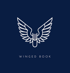 winged book vector image vector image