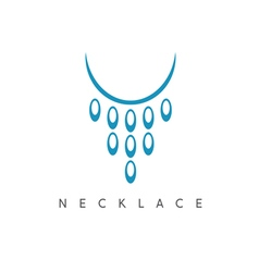 abstract icon design template of necklace vector image
