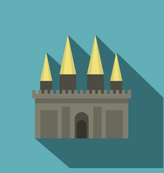ancient castle palace icon flat style vector image vector image