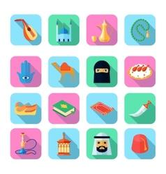 Arabic Culture Icon Flat vector image vector image
