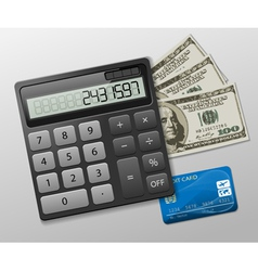 calculator business vector image