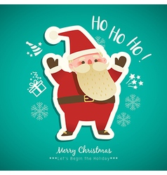 Christmas Santa Claus cartoon vector image vector image