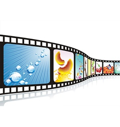 Film strip with nice pictures vector