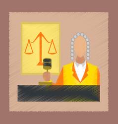 flat shading style icon jurisdiction judge vector image
