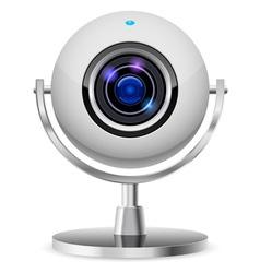 realistic computer web cam vector image vector image