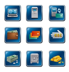 banking buttons vector image
