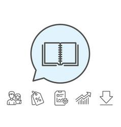 Book line icon education symbol vector