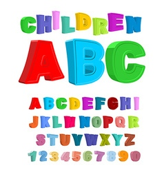 Children ABC Large letters in kids style babies vector image
