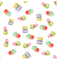colorful macaroons seamless pattern vector image vector image