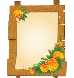 Flowers border frame vector image vector image