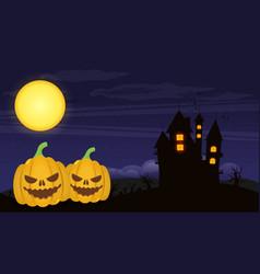 halloween cartoon background vector image