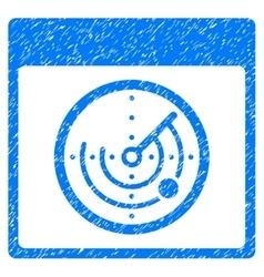 Radar Calendar Page Grainy Texture Icon vector image