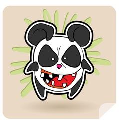 angry panda vector image vector image