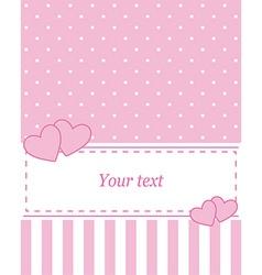 Card invitation pink vector