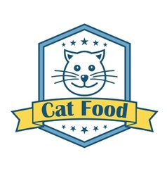 Cat food label vector image vector image