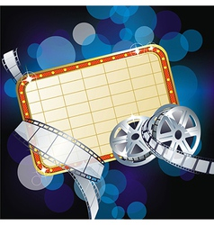 Cinema sign vector image vector image