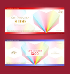elegant gift card or gift voucher template vector image