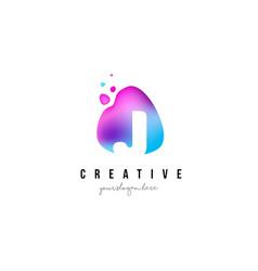 j letter dots logo design with oval shape vector image
