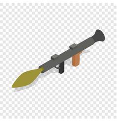 military rifle anti tank rocket grenade gun icon vector image