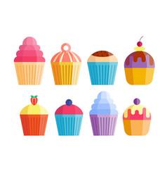 party cake food dessert sweet cream celebration vector image