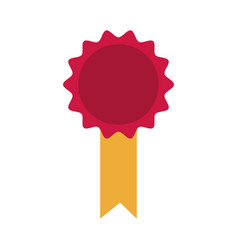 rosette diploma certifcate quality image vector image