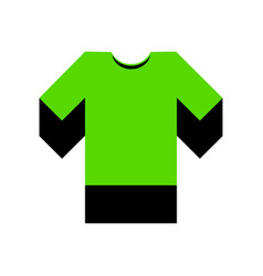 t-shirt sign green 3d icon vector image