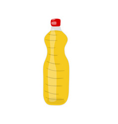 a bottle of hydrogenated vegetable canola or soy vector image