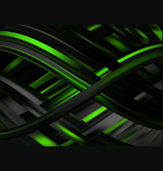 abstract 3d background with waves vector image