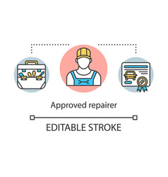 Approved repairer concept icon vector