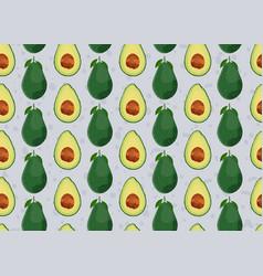 Avocado seamless pattern on gray background vector