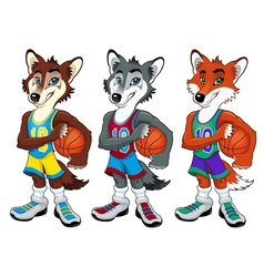 Basketball mascots vector image