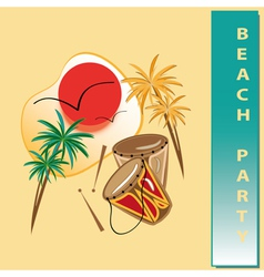 Beach party vector