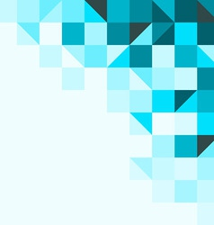 Blue background with triangles and squares vector