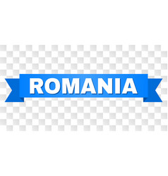 Blue tape with romania text vector