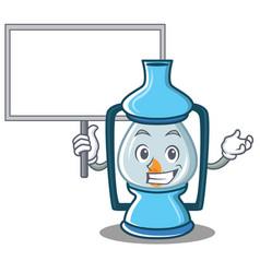 Bring board lantern character cartoon style vector