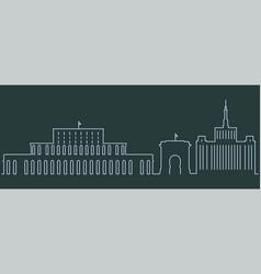 bucharest single line skyline vector image