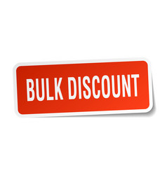 Bulk discount square sticker on white vector