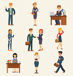 Business people set corporate teamwork vector