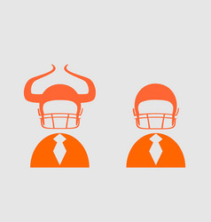 Businessman 3d icon with american football helmet vector