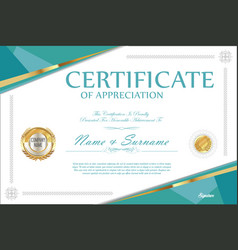 Certificate retro design template 5 vector