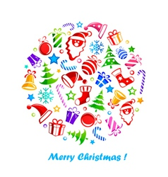christmas decoration vector image